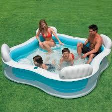siege de piscine gonflable piscine hors sol gonflable intex 4 sièges 229 x 229 x 66 cm