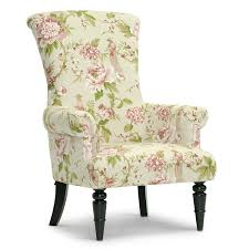 Floral Accent Chairs Living Room Chairs Baxton Studio Kimmett Linen Floral Accent