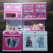 pretend kitchen furniture 2015 best christmas gift pack girl cartoon elsa anna pretend play