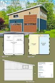 rv storage building plans plan 68448vr contemporary garage with rv bay garage plans rv