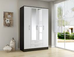 Clear Mirrored Wardrobe 2 Door Bonsoni Mdp Lynx 4 Door 2 Drawer Mirror Wardrobe Black U0026 White