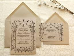 fairytale wedding invitations once upon a time kraft garden wedding invitations