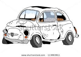 wrecked car clipart wrecked car stock vector 113883811 shutterstock