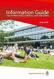 Radboud University U0027s Information Guide 2015 2016 By Radboud
