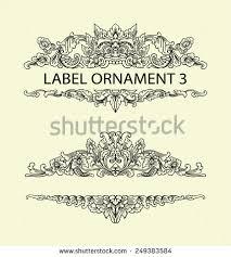 label ornament 3 black floral sketch stock vector 249383584