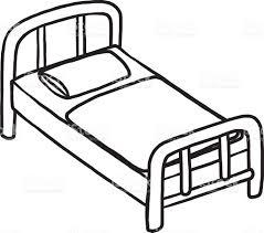 Das Schlafzimmer Clipart Einzelbett Bett Vektor Illustration 587537574 Istock