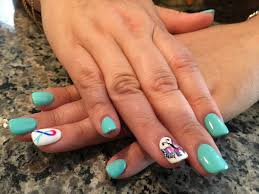 thyroid cancer awareness nails by mt the louvre salon