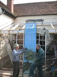 glass roof ivy cottage the works today saw first of panels put