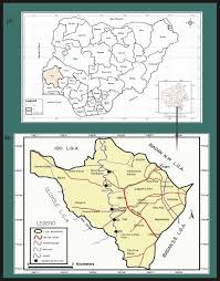 Yellow River Map Map Of Ibadan South West Local Government Area Showing Ona River