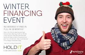 winter financing event at hold it contemporary home