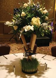 photo centerpieces sports themed weddings sports themed wedding reception centerpieces