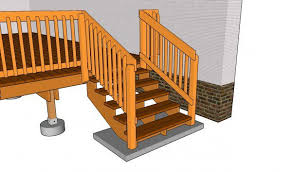 Deck Handrail How To Build A Deck Handrail On Stairs How To