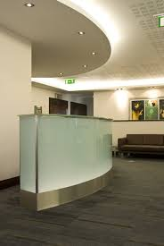 Glass Reception Desk Reception Desk Ideas Trucurve Reception Desks Colored Glass