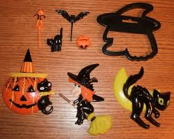 Halloween Cake Cutters 8pc Vintage Halloween Cake Toppers Cupcake Decor U0026 Wilton Witch