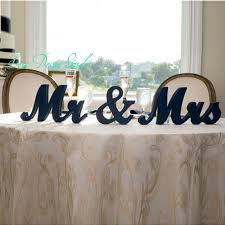 mr and mrs wedding signs aliexpress buy mr mrs wedding table signs for sweetheart