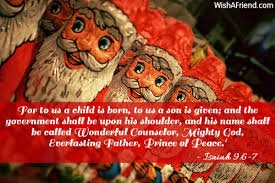 for to us a child is religious christmas quote