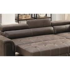 esofastore convertible sectional breathable leatherette dark