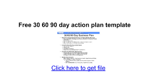 free 30 60 90 day action plan template google docs