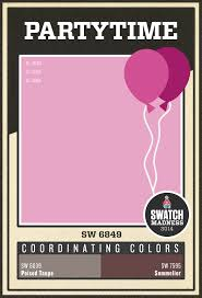 sherwin williams pink paint color partytime sw 6849 paint