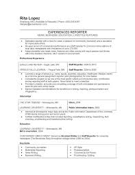Welding Resume Examples by Journalism Experienced Reporter Resume Example Free Download