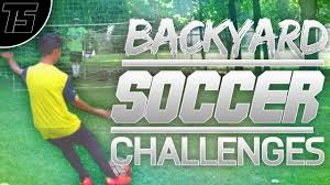 backyard soccer challenges part 1 youtube
