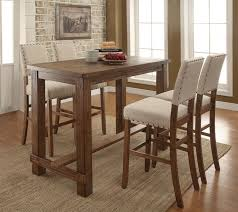 bar top table and chairs boyer two tone counter height dining table set inside bar round