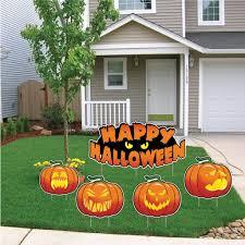 amazon com happy halloween scary pumpkins halloween lawn