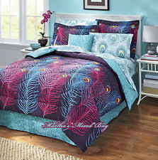 Purple And Teal Bedding Peacock Bedding Ebay