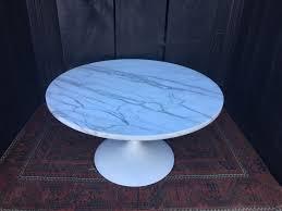 mid century modern marble tulip coffee table vintage marble