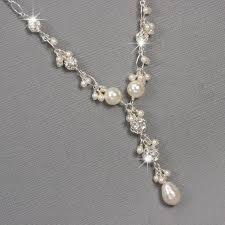 wedding jewelry teardrop pearl necklace pearl bridal jewelry pearl and