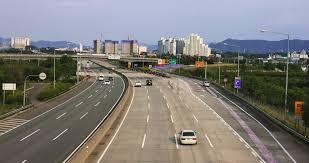 gyeongsan korea sept 16 gyeongbu seoul busan expressway stock