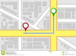 Map Route City Map Destination Route Stock Photo Image 30972670