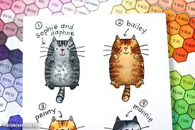 what color is what color is your cat coloring cats with copic markers plus hex