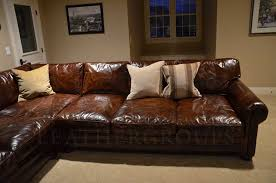 Brown Leather Sectional Sofa 15 Photo Of Vintage Leather Sectional Sofas