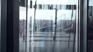 ufa russia 05 06 2016 spinning glass door fordesign