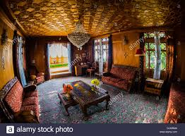 interior view new golden hind a luxury houseboat on dal lake