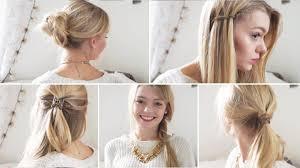 Hochsteckfrisuren Mittellange Haare Einfach by Fünf 5 Minuten Frisuren Einfache Frisuren Für Schule Uni