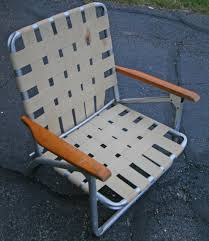 Patio Folding Chair by Vintage Lawn Deck Camping Chair Web Aluminum Folding Webbed Patio