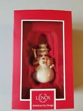 lenox snowman ornament ebay