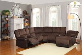 sectional sofas with recliners and cup holders endearing sectional sofas with recliners and cup holders brown