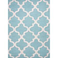 Modern Blue Rug Blue Quatrefoil Rug Little Crown Interiors