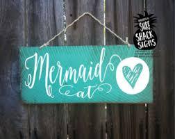 Mermaid Home Decor Mermaids Bathe Here Mermaid Decor Mermaid Sign Mermaid