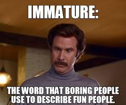 Will Farrel Meme - will ferrell immature the word 9buz
