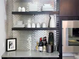 Stainless Steel Tile Backsplashes HGTV - Cutting stainless steel backsplash