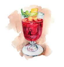 watercolor cocktail anastasiya levashova freelance illustrator watercolour