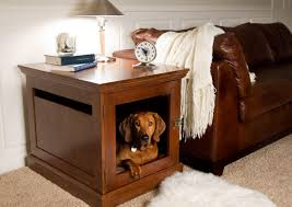 How To Make End Table Dog Crate by Diy Indoor Dog Kennel Interesting Ideas For Home