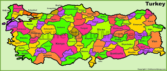 Turkey Map Europe by Administrative Divisions Map Of Turkey