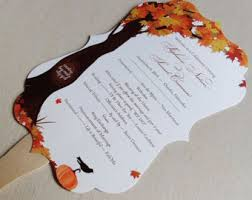 fall wedding programs fall wedding program etsy