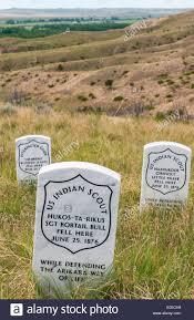 memorial markers montana bighorn battlefield national moniment fallen us