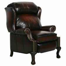 Leather Chair And A Half Recliner Barcalounger Danbury Ii Stetson Bordeaux Leather Recliner